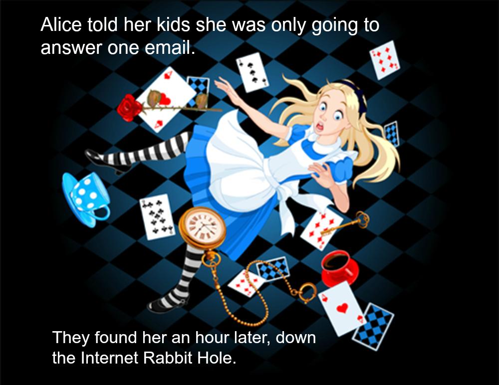 Podcast Mom Time Sucks The Internet Rabbit Hole